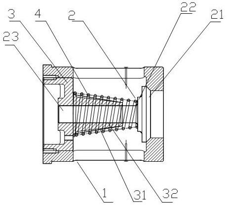 CN106402434A_一种空气锤上的止回阀总成 专利基本信息(图1)